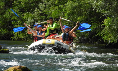 Private rafting on Cetina river with elements of canyoning & cliff jumping